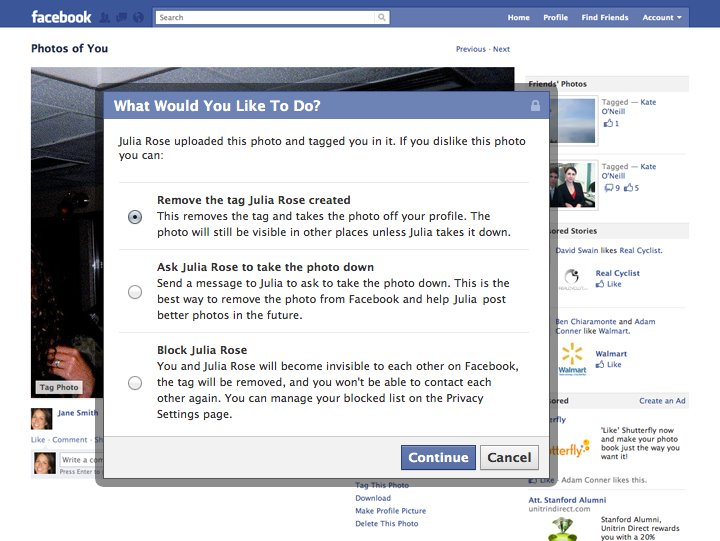 Facebook Remove Tag